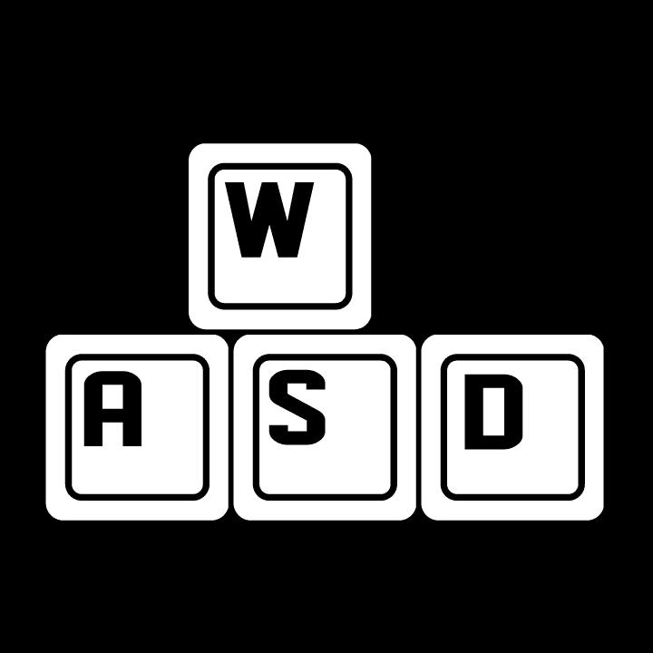 Tričko pro všechny vášnivé hráče PC her, zejména stříleček a RPG. Na levém prsu je natištěn design kláves WSAD, na zádech design levé, herní ruky a význam každého prstu 8-)