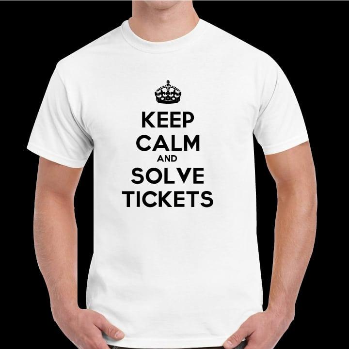 Tričko keep calm and solve tickets