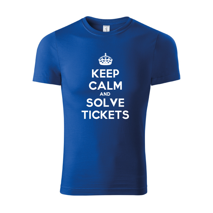Tričko keep calm and solve tickets