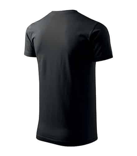 Černé pánské tričko bez potisku