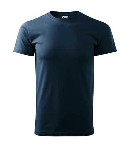 Pánské tričko bez potisku - barva námořní modrá