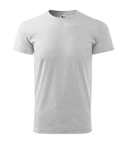 Pánské tričko bez potisku - barva světle šedý melír
