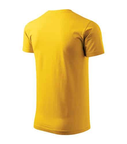 Pánské tričko bez potisku - barva žlutá