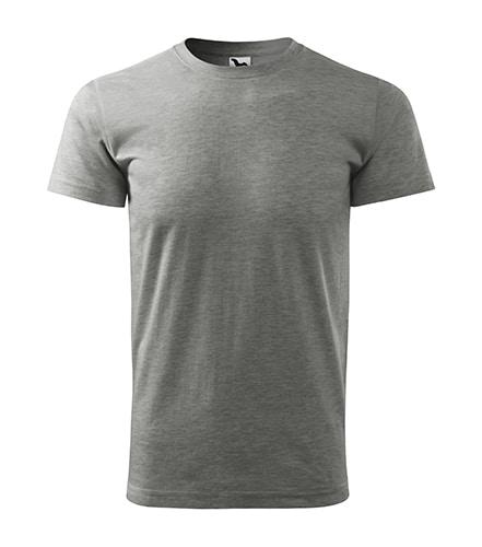Pánské tričko bez potisku - barva tmavě šedý melír