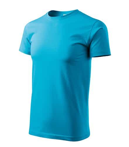 Pánské tričko bez potisku - barva tyrkysová