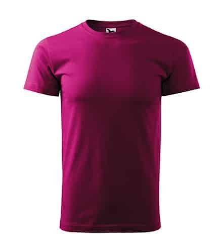 Tričko bez potisku Fuchsiová barva