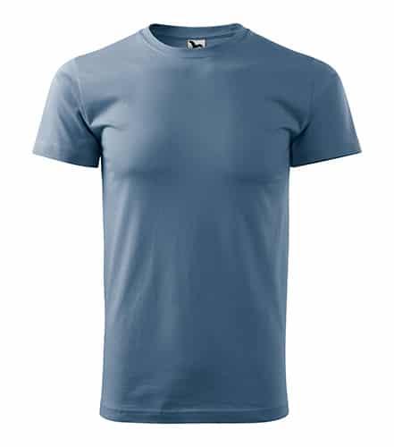 Pánské tričko bez potisku - barva Denim