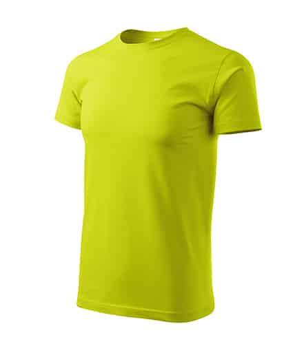 Pánské tričko bez potisku - barva limetková