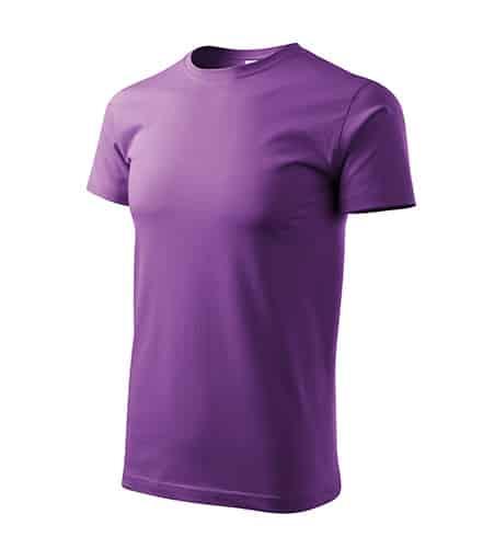 Pánské tričko bez potisku - barva fialová