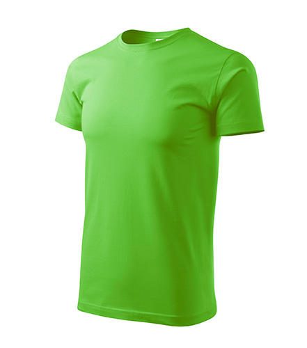 Pánské tričko bez potisku - barva jablečně zelená