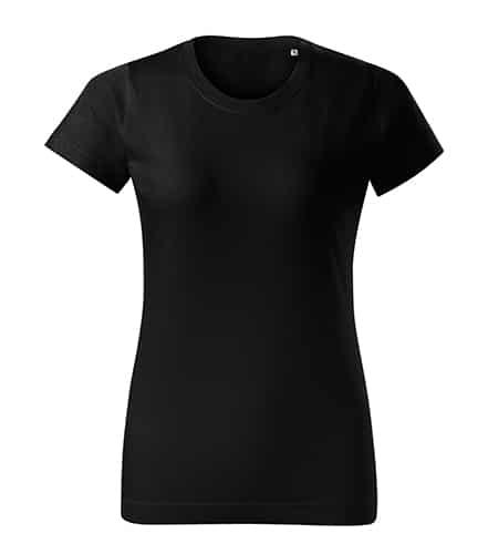 Černé dámské tričko bez potisku