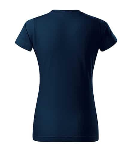 Tmavě modré dámské tričko bez potisku