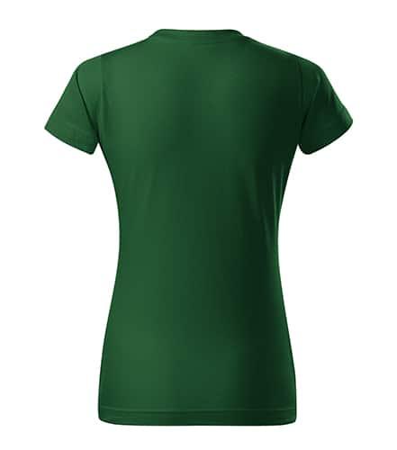 Lahvově zelené dámské tričko bez potisku