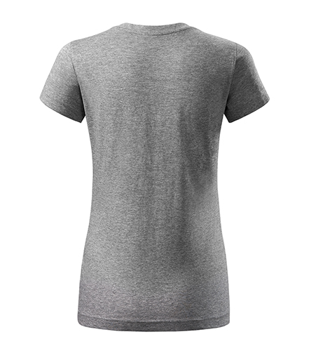 Tmavě šedé dámské tričko bez potisku
