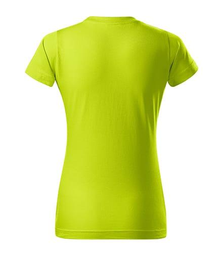 Limetkové dámské tričko bez potisku