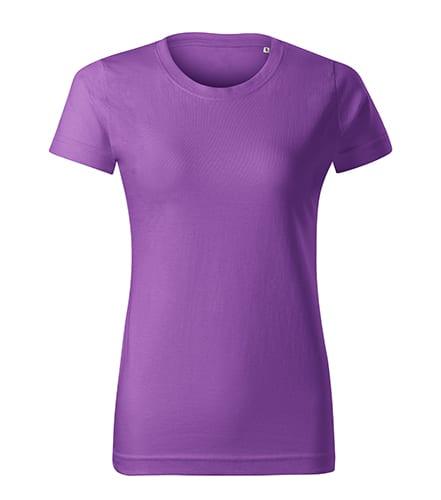 Fialové dámské tričko bez potisku